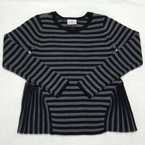 NEW Hanna Andersson girls' striped peplum sweater